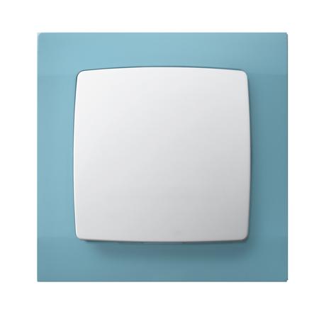 Łącznik jednobiegunowy ŁP-1S/00 ramka w kolorze turkusowym seria Karo OSPEL
