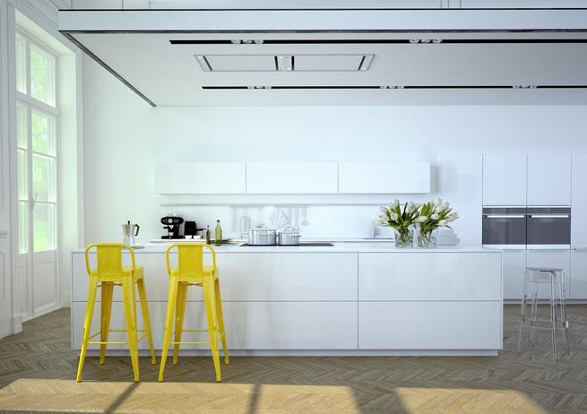 Kuchnia nowoczesna. Białe fronty kuchenne