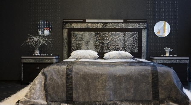 Pomysł na wnętrze - czarna sypialnia