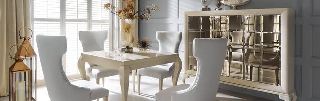 Jadalnia diwy – styl francuski we wnętrzu