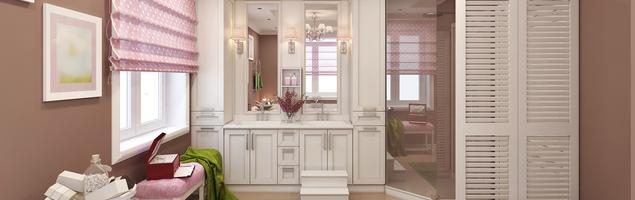 Pomysł na łazienkę - kobiece wnętrze