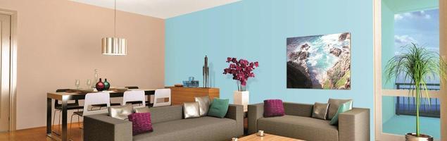 Farby z natury relaksujące – aranżacja salonu