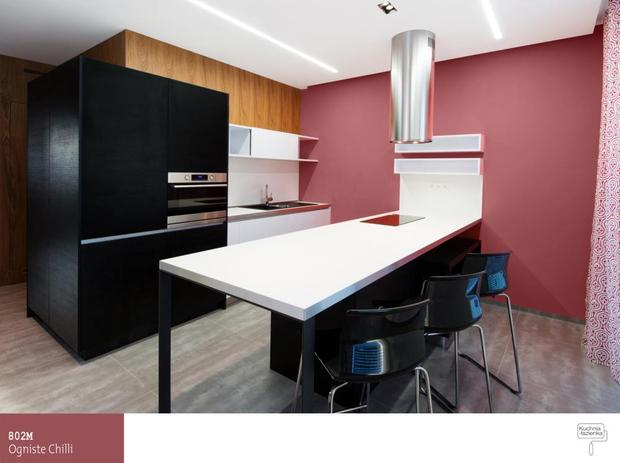 Kolorowe aranu017cacje kuchni. Jaki kolor farby do kuchni?